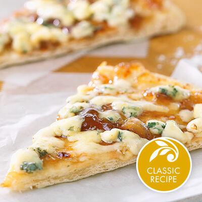 Roasted Garlic Onion Jam Pizza