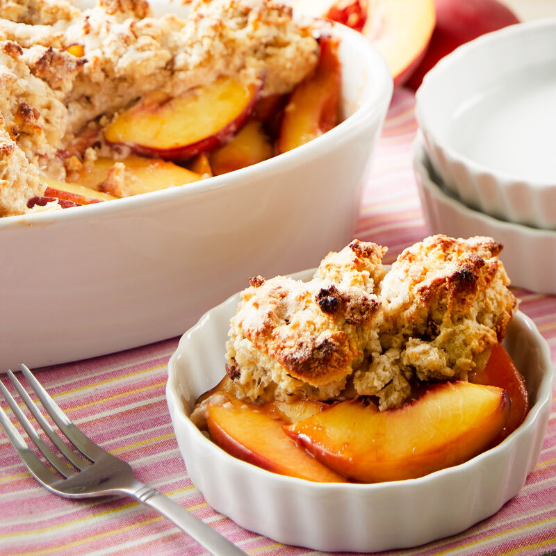 Raspberry Peach Cobbler