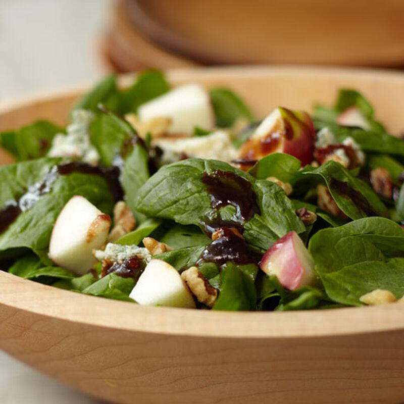 Fall Macintosh, Spinach, Toasted Walnut and Stilton Salad