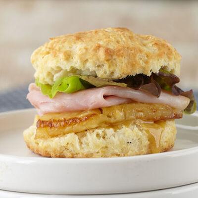 Ham & Pineapple Biscuit Sliders