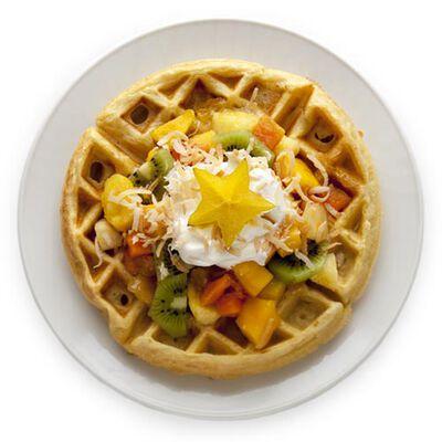 Tropical Fruit Waffle