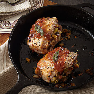 Savory Stuffed Pork Chops