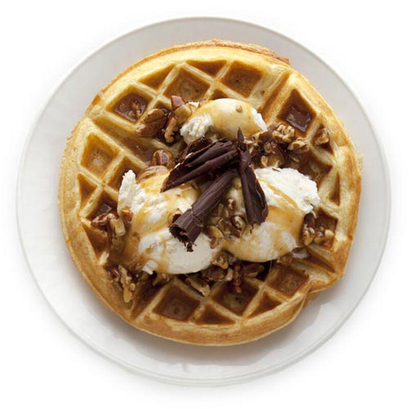 Chocolate Caramel Waffle
