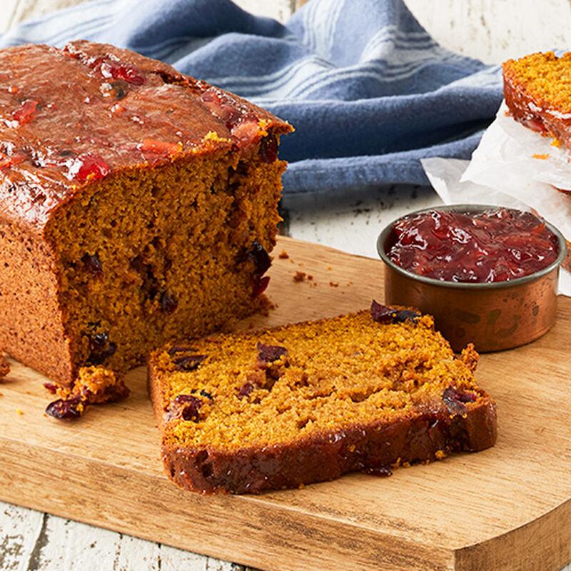 Pumpkin Cranberry Spice Tea Cake