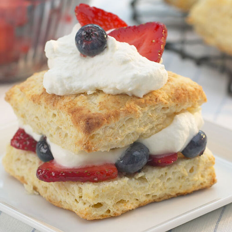 Red, White and Blue Shortcakes