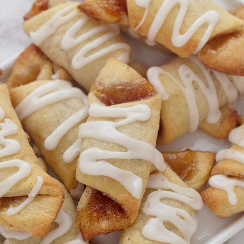 Glazed Peach Amaretto Crescent Cookies