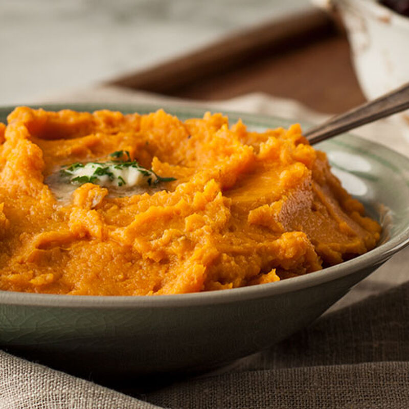 Mashed Garlic Sweet Potatoes