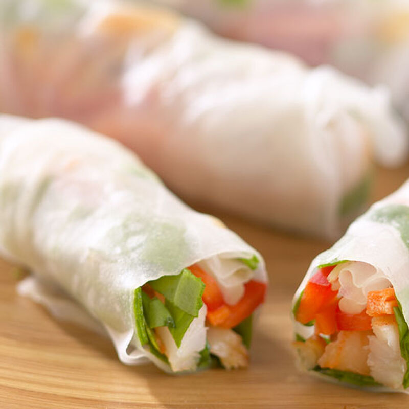 Shrimp Summer Rolls with Two Sauces
