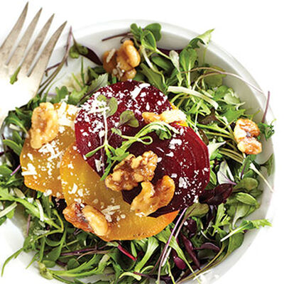 Roasted Golden and Red Beet Salad