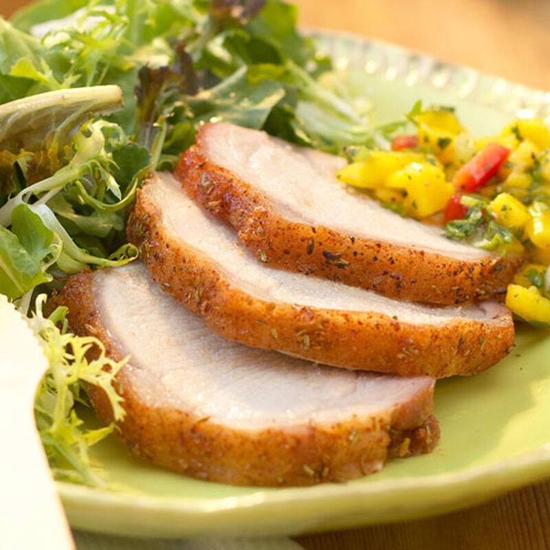 Tenderloin of Pork with Beet Greens