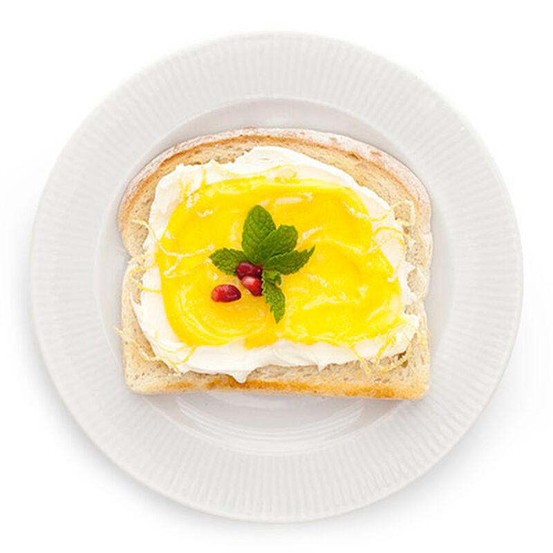Candied Lemon & Mint Toast