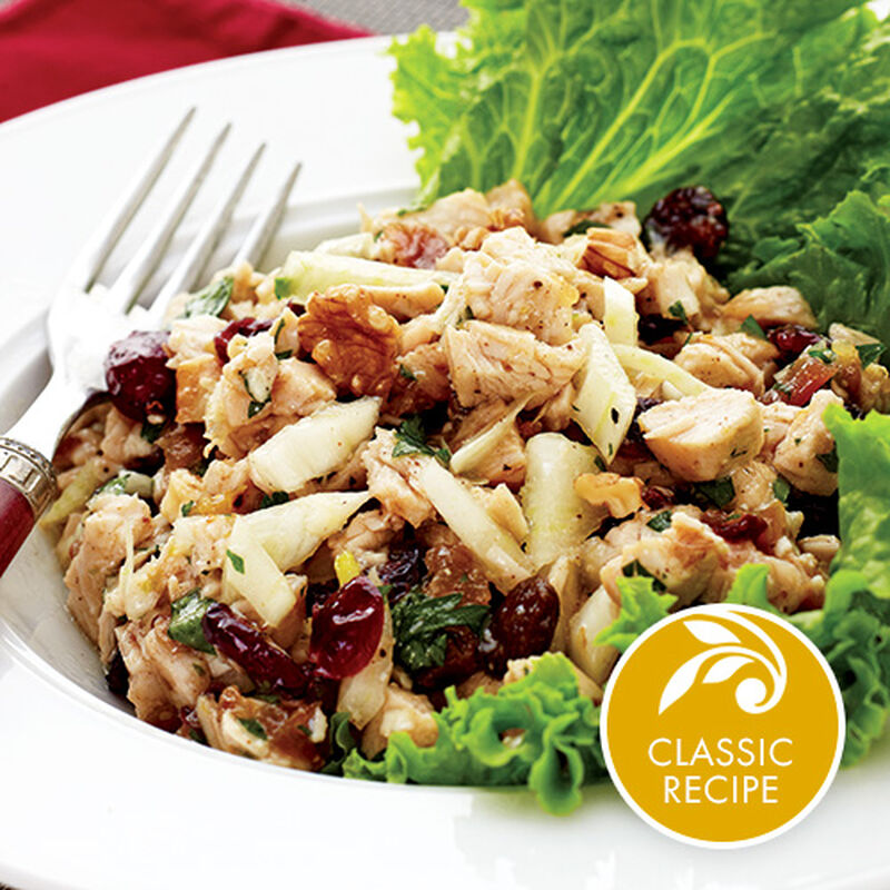 Turkey Cranberry Walnut Salad