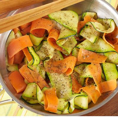 Pesto Ribbon Vegetables