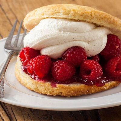Raspberry and Cream Shortcakes