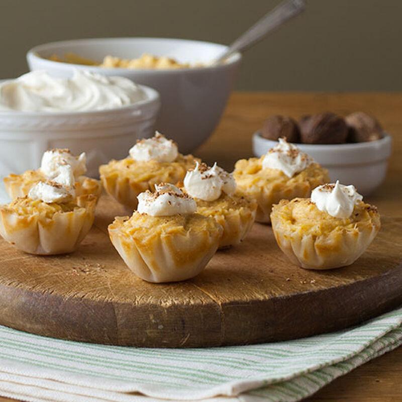 Pumpkin Chiffon Tartlets
