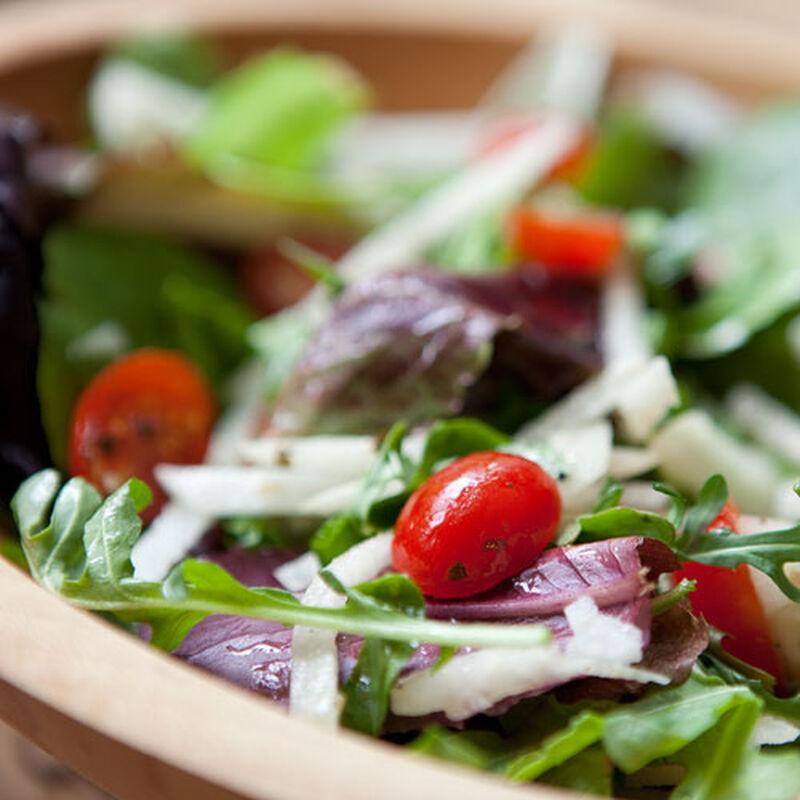 Baby Field Green Salad with Jicama and Lime Vinaigrette