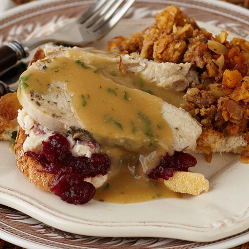 Hot Open Faced Turkey Sandwich