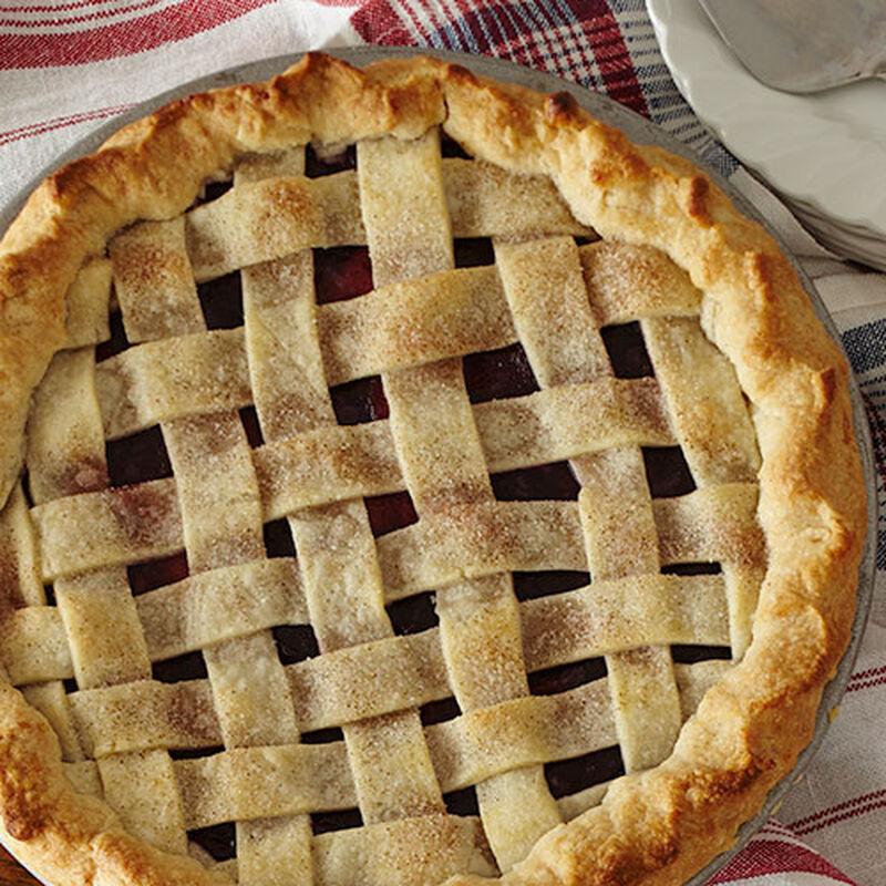 Wild Blueberry and Peach Pie
