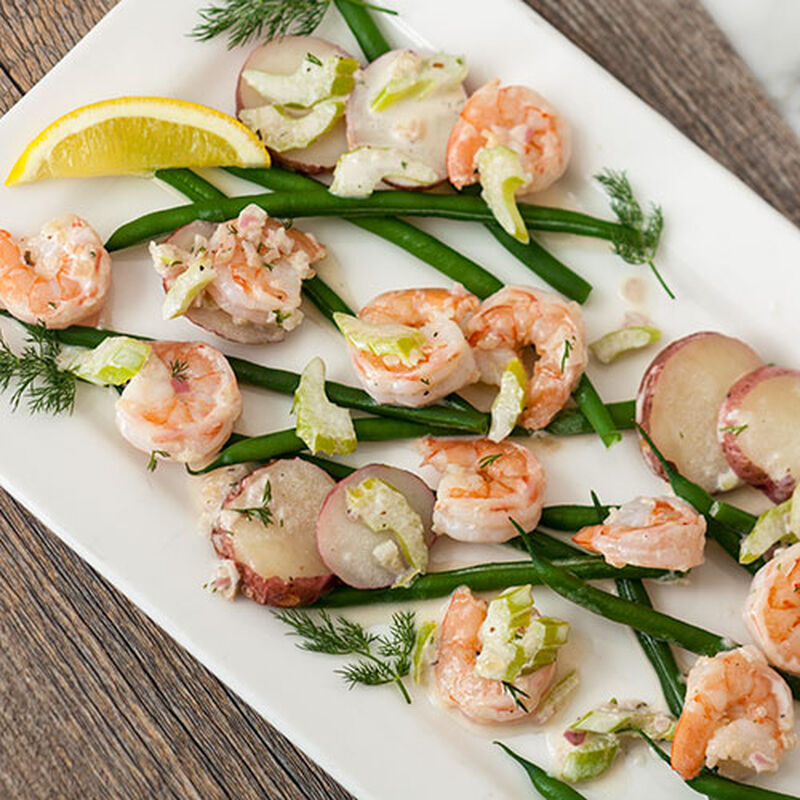 Bay Shrimp with Green Beans and New Potatoes