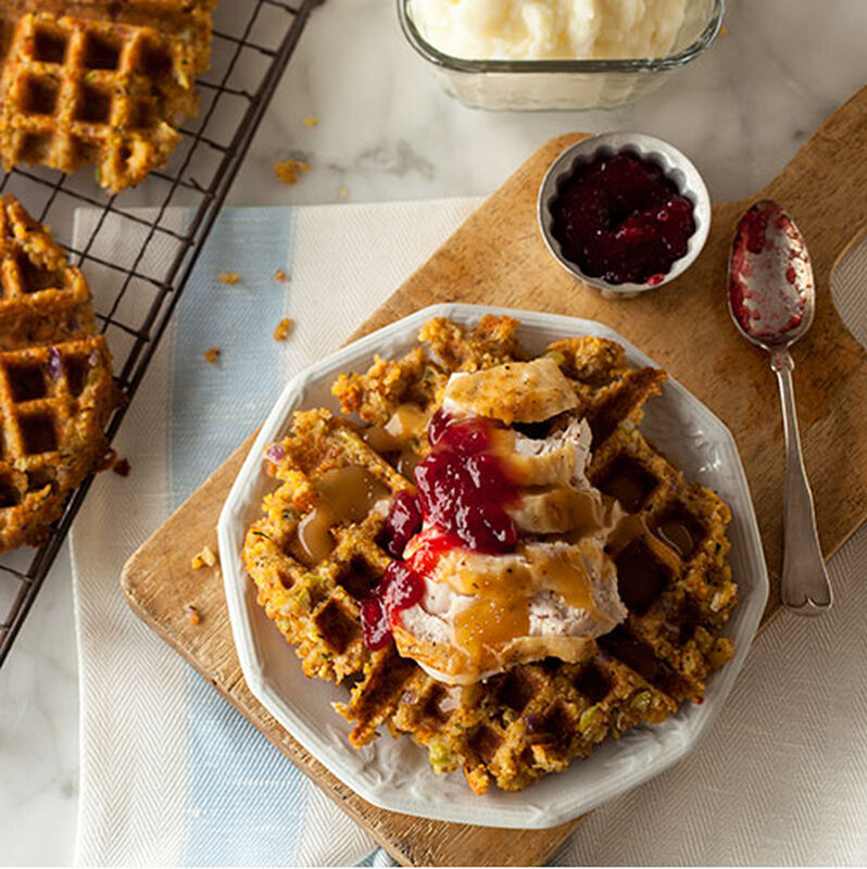 Thanksgiving Leftovers  Waffle