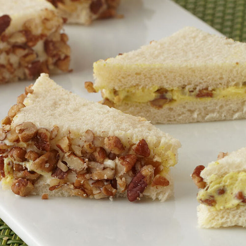 Curried Cream Cheese and Chutney Party Sandwiches