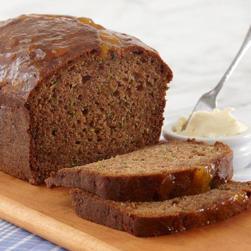 Peach Amaretto Zucchini Bread