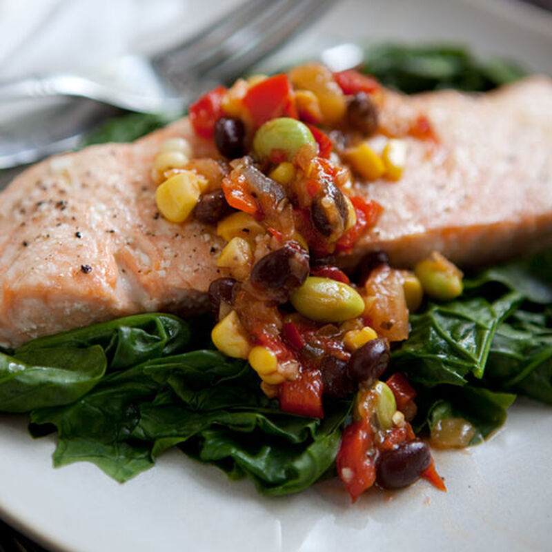 Salmon with Pineapple Ginger Relish