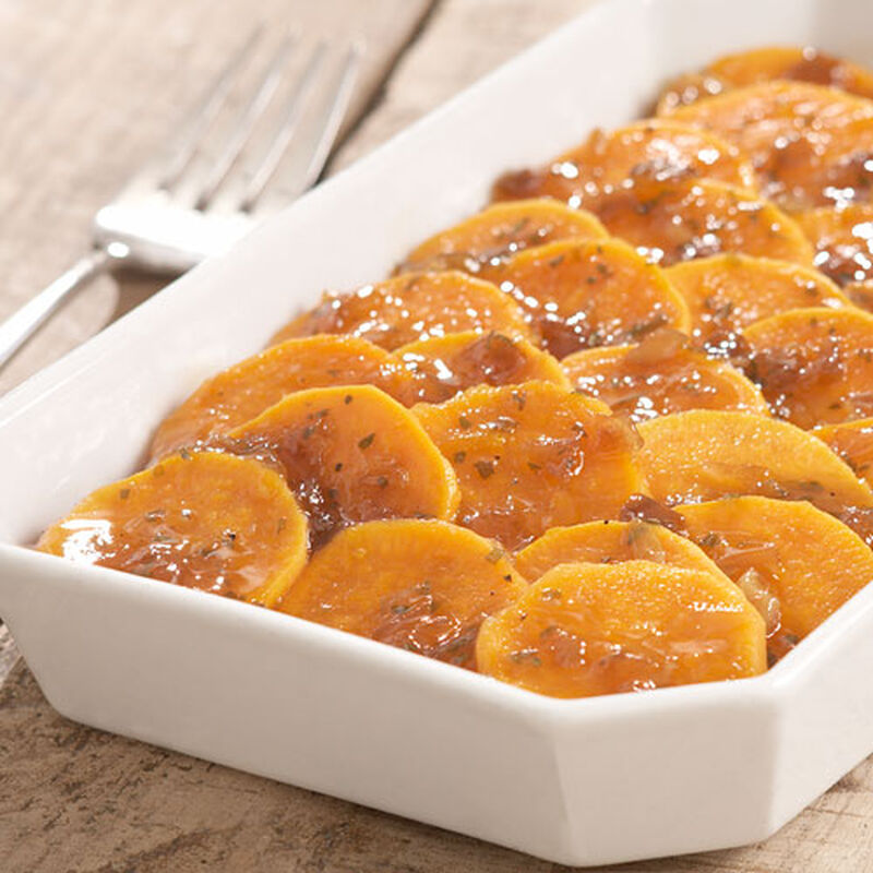 Glazed Sweet Potato Slices