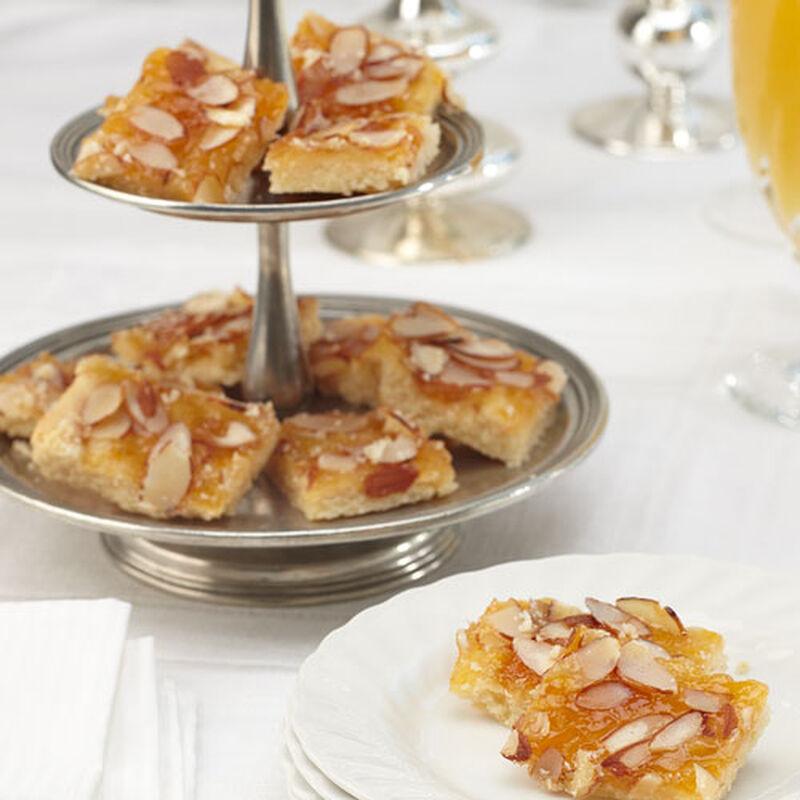Peach Bellini Shortbread Bars
