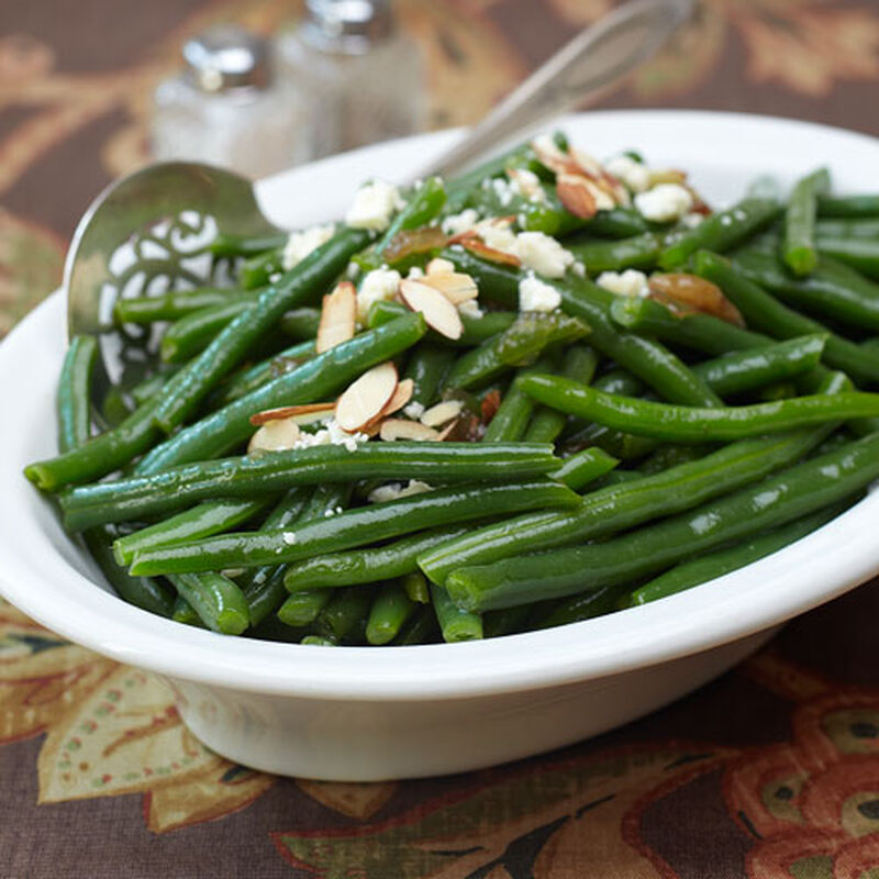 Glazed Green Beans with Crumbled Gorgonzola