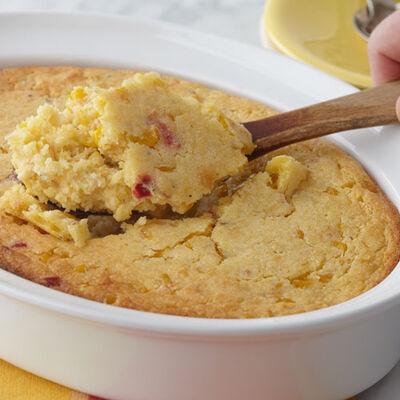 Spicy Corn Bread Pudding