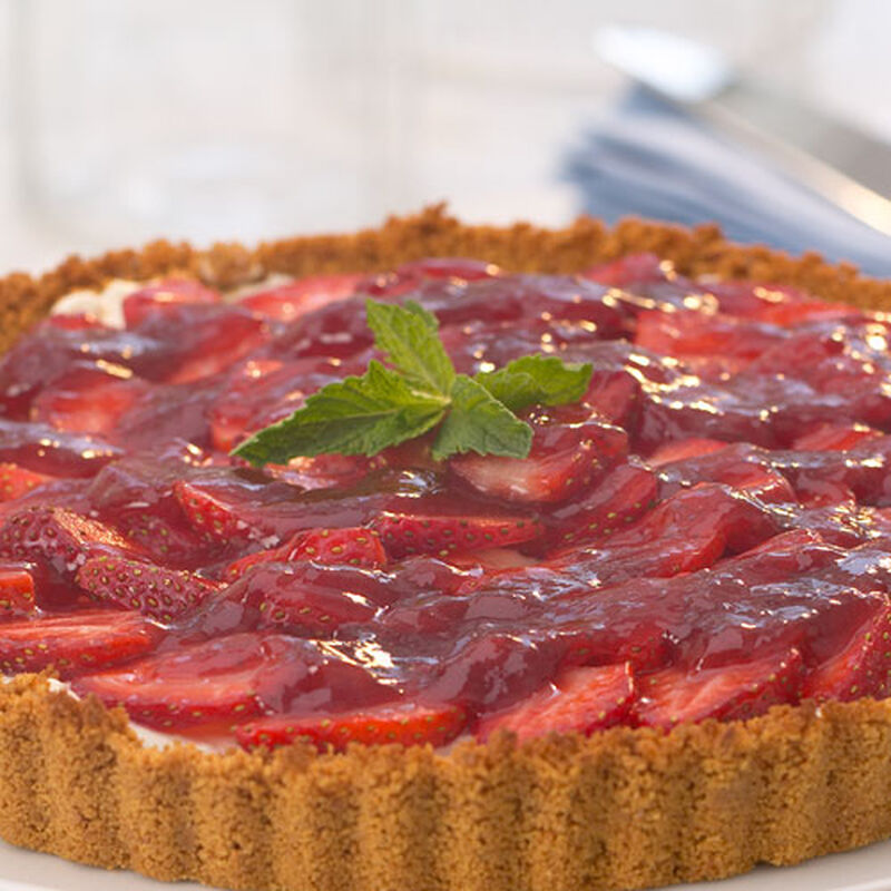 Strawberry Sour Cream Tart