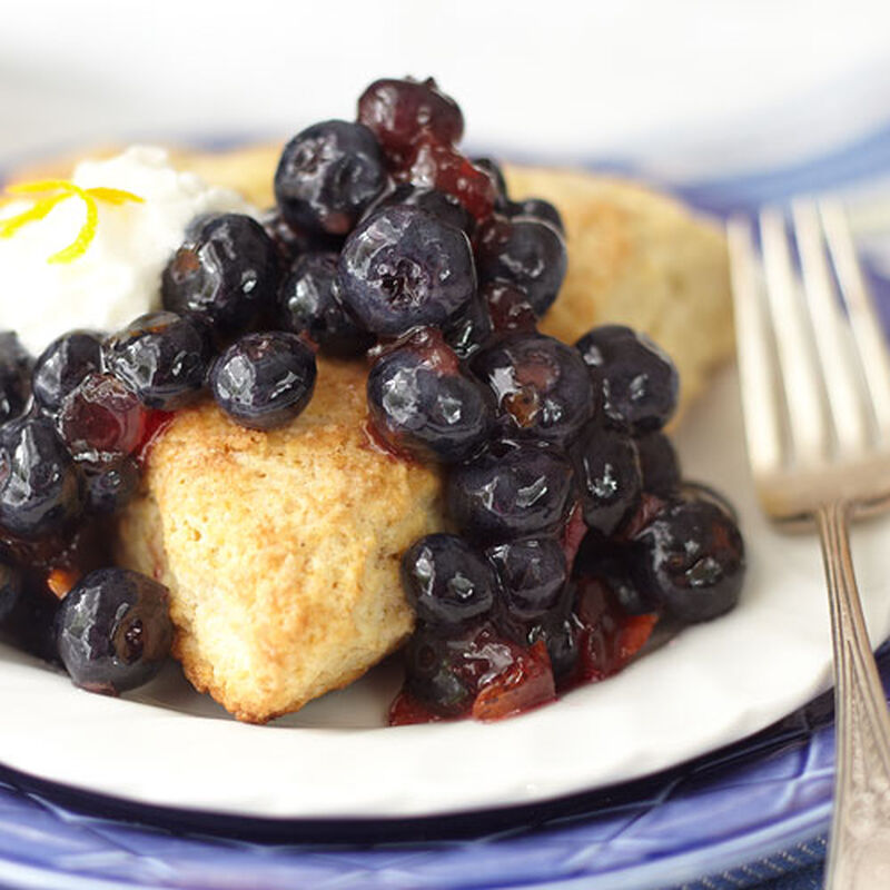 Blueberry Orange Shortcake Scones
