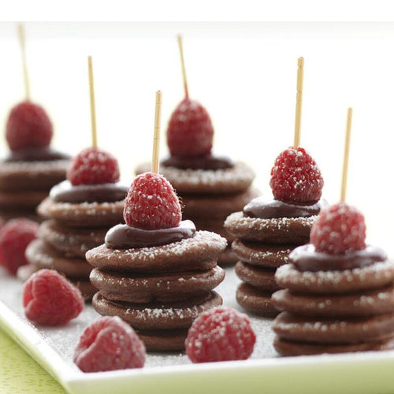 Mini Chocolate Pancake Stacks