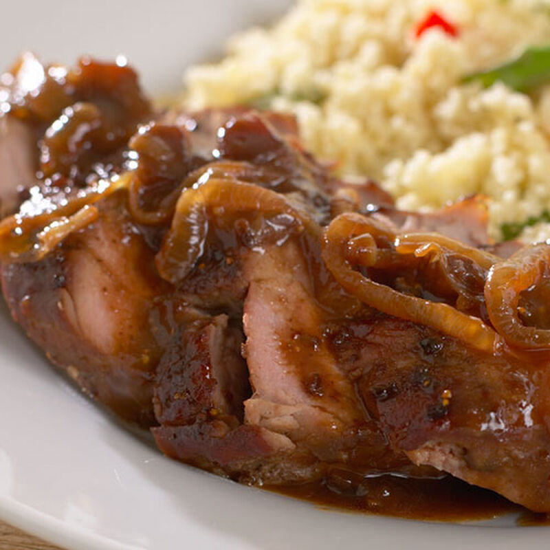 Pork Chops with Fig and Ginger Jam