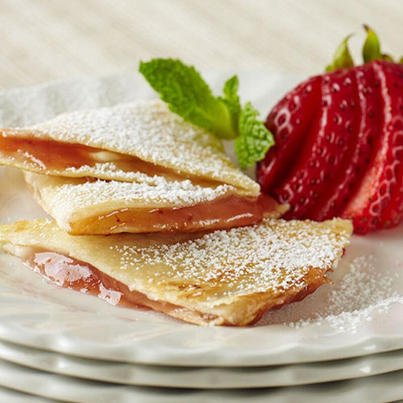 Strawberry Apple Rhubarb Dessert Quesadillas