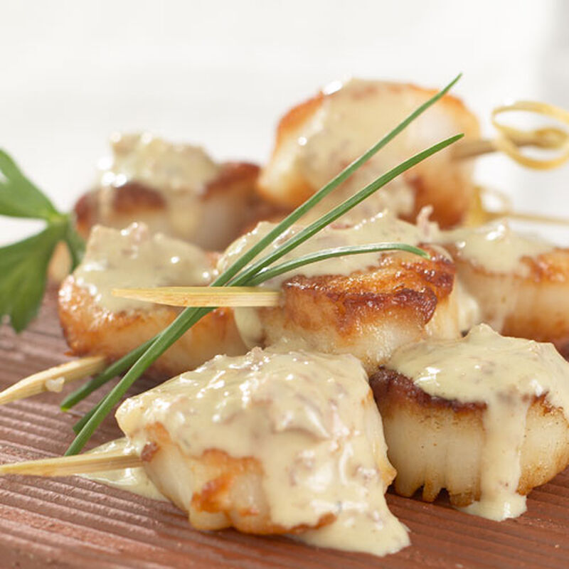 Pan Seared Scallops with Wasabi Ginger Sauce