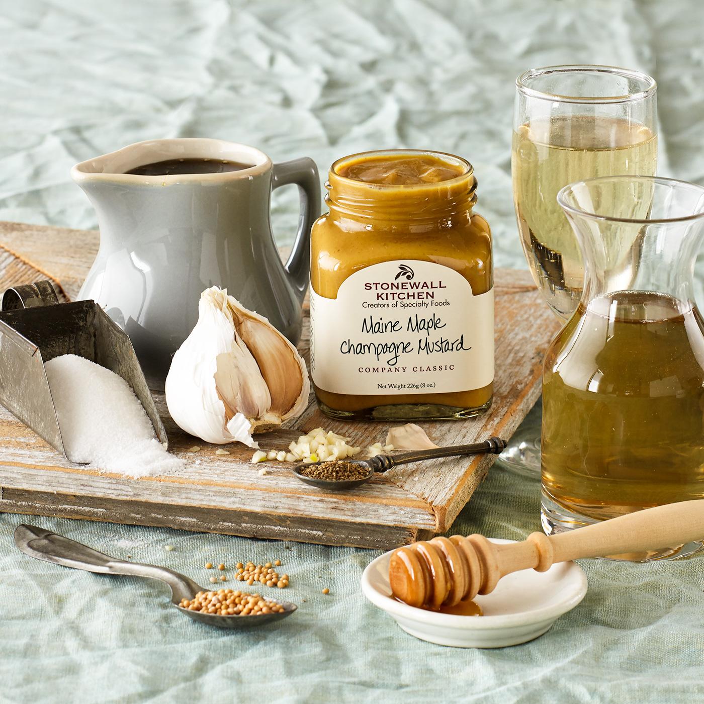 maine maple champagne mustard condiments stonewall kitchen. Black Bedroom Furniture Sets. Home Design Ideas