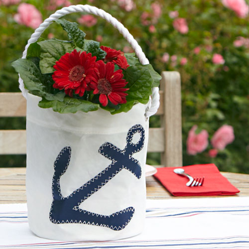 166ea316e94 Navy Anchor Sea Bag® Bucket Bag | Kitchen & Home | Stonewall Kitchen