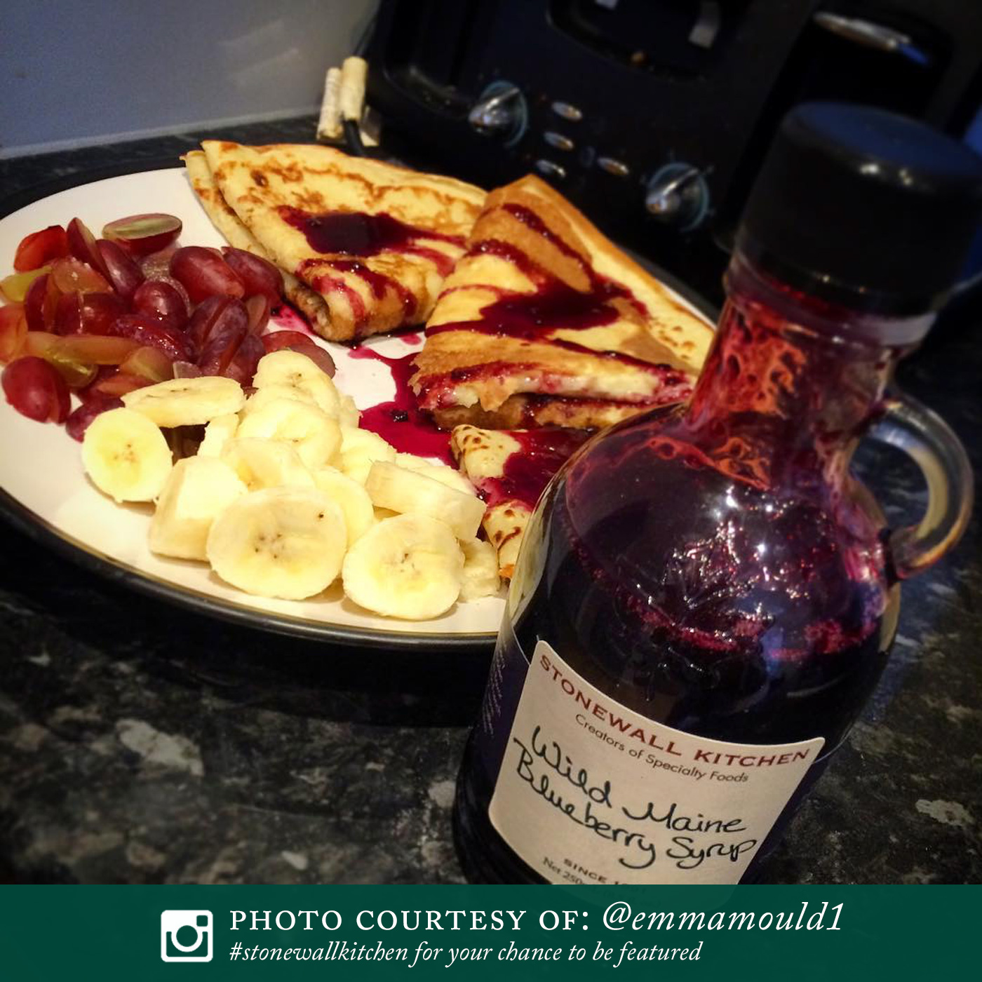 wild maine blueberry syrup pancakes syrups stonewall kitchen