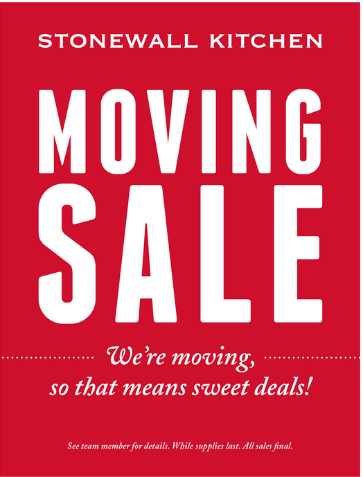 Stonewall Kitchen Moving Sale - Rochester, NH